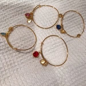 Alex and Ani simulated birthstone bracelets